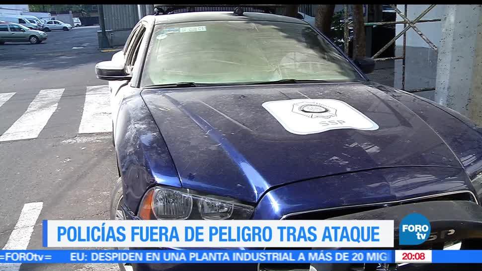 Noticias, televisa news, Atacan, policias, CDMX, bomba molotov