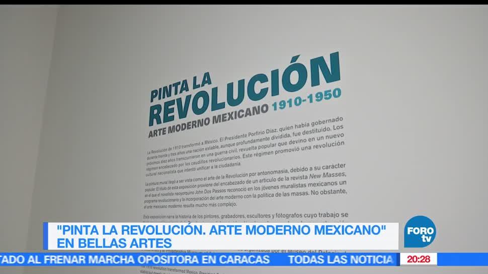 Noticias, Televisa News, Exposicion, Pinta la Revolucion, Arte Moderno Mexicano,