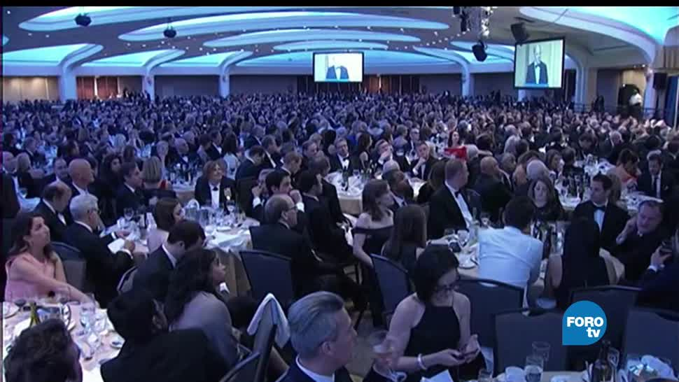 noticias, foro global, Trump. cena con corresponsales, Donald Trump, corresponsales