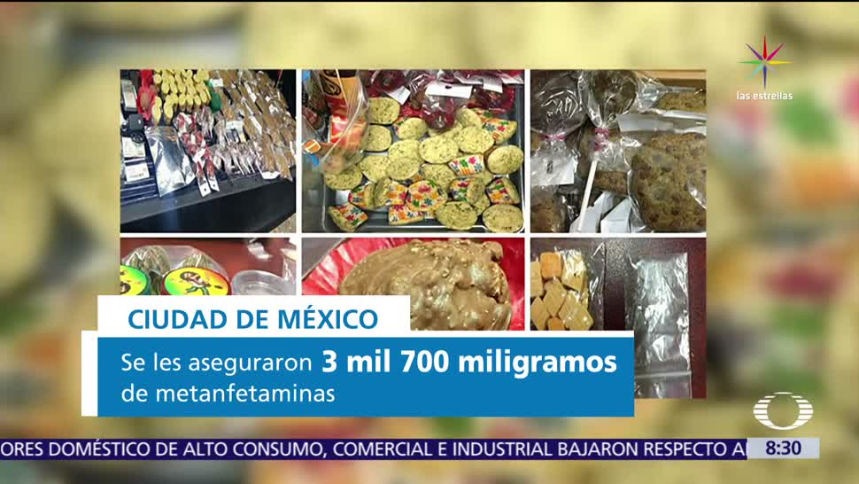 Postres con drogas, comercializaban marihuana, CDMX, detenida