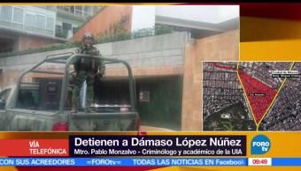 detención, Dámaso López, El Chapo, seguridad
