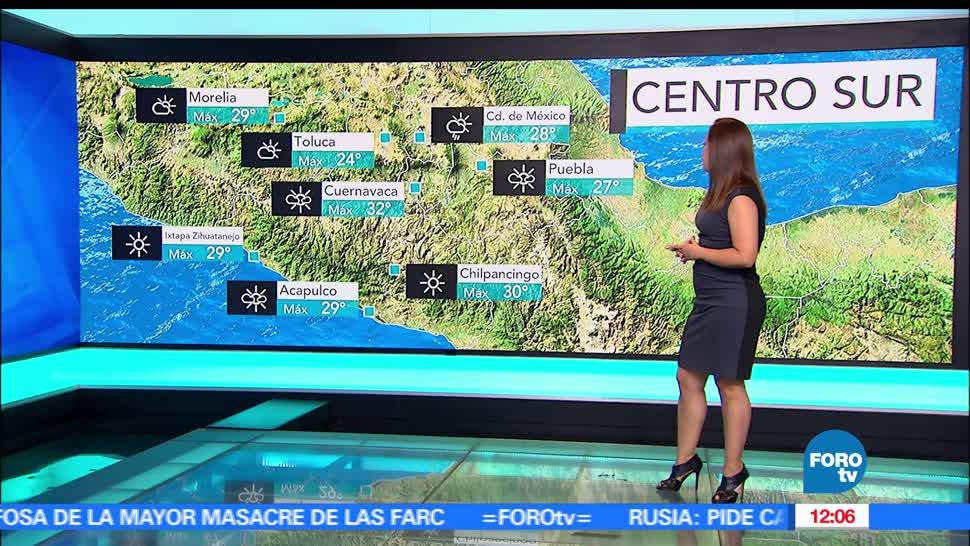 Ciudad de México, temperatura máxima. lluvia, clima