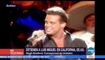 Detienen, Luis Miguel, California, estados unidos,