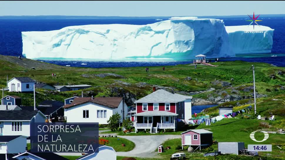 Iceberg, noreste de Canadá, ventana, enorme