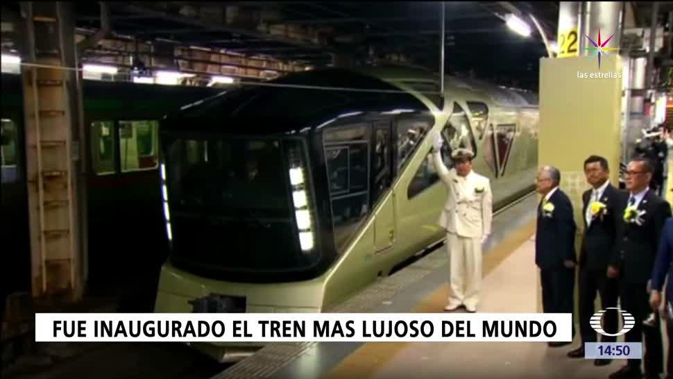 Japón, tren, lujoso, inaugurado