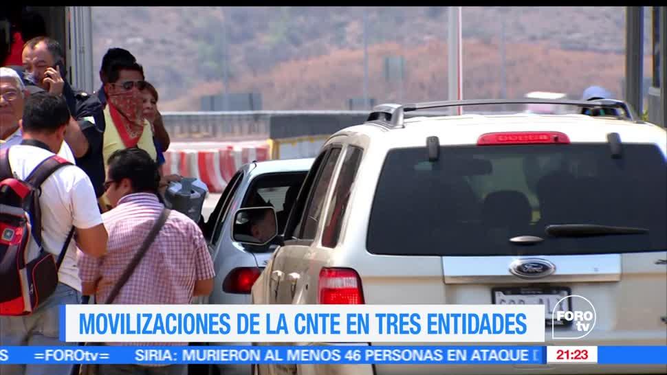 noticias, forotv, Integrantes de la CNTE, movilizaciones, Oaxaca, Chiapas y Guerrero