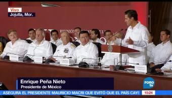 Jojutla, presidente de mexico, Enrique Peña Nieto, relación con EU