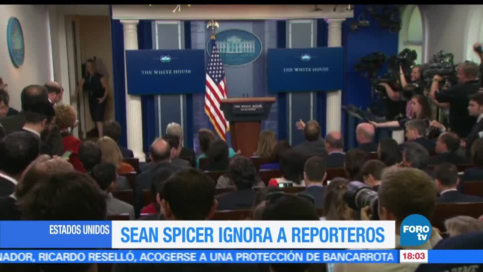 Sean Spicer, conferencia de prensa, Donald Trump, estados unidos