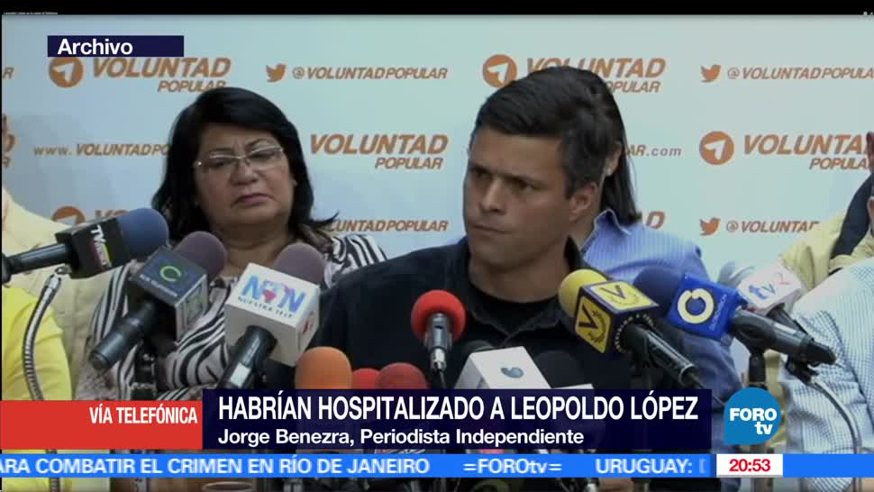 noticias, forotv, Reportan, hospitalizacion, Leopoldo Lopez, Venezuela