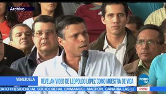 noticias, hora 21, Presentan, video, Leopoldo Lopez, fe de vida
