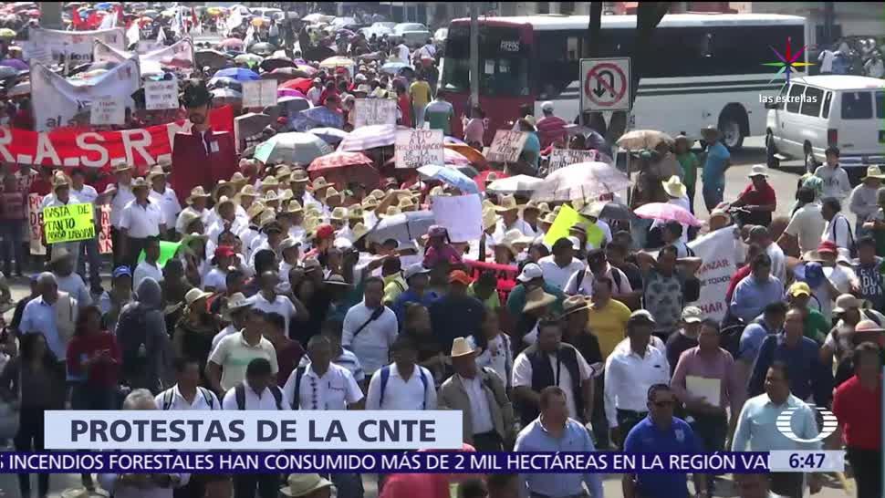 Oaxaca, Chiapas, Guerrero, centros comerciales, bloqueos