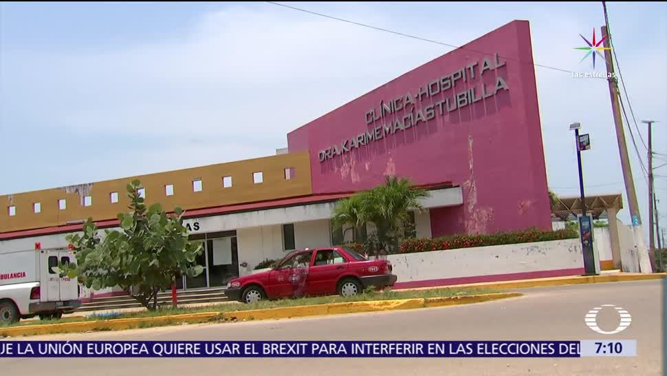 Karime Macías, esposa del exgobernador Javier Duarte, buscó inmortalizar su nombre en clínicas y albergues de Veracruz. (Noticieros Televisa)