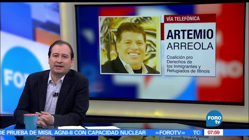 Artemio Arreola, Coalición Pro Derechos, Inmigrantes, Refugiados, Trump
