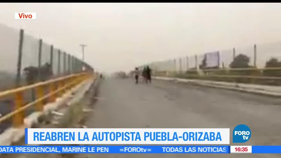 noticias, televisa news, Reabren, autopista, Puebla-Orizaba, protesta