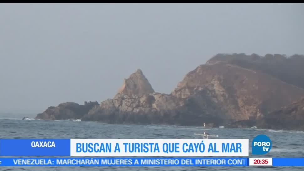 Búsqueda, Turista mexicano, Cae, Mar, Costa de Oaxaca, Playa Mazunte