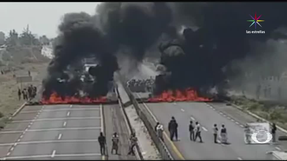 4, horas, bloqueos, autopista, Puebla, Orizaba