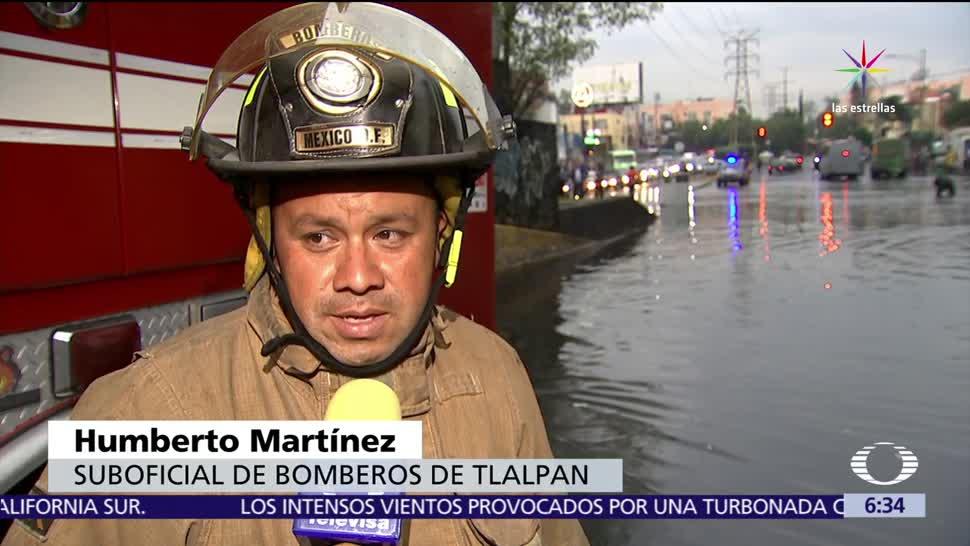 Lluvias intensas, provocan inundaciones, Coyoacán, Iztapalapa