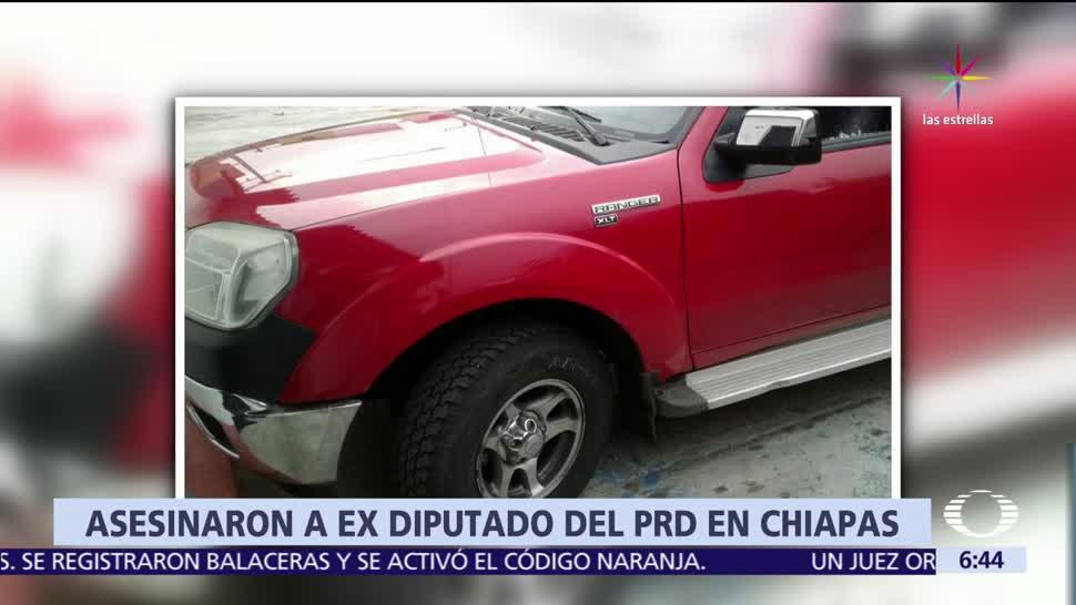 Asesinan, exdiputado, Chiapas, PRD