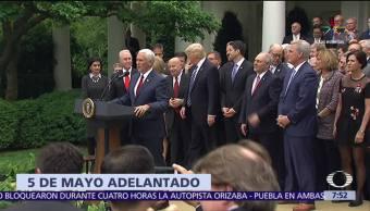 Casa Blanca, adelanta la ceremonia, 5 de mayo, presidente Donald Trump
