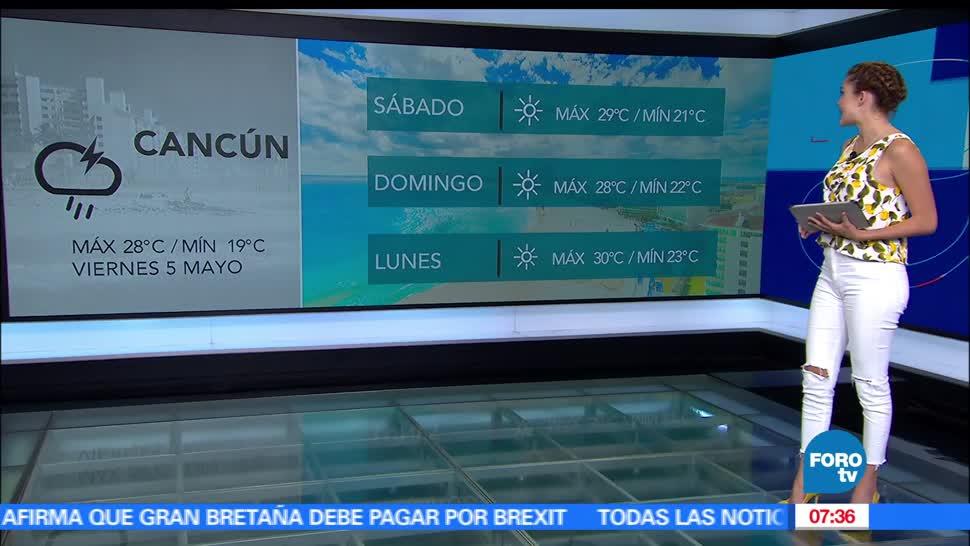 frente frío, lluvias en gran parte de México, el clima, Daniela Ávarez