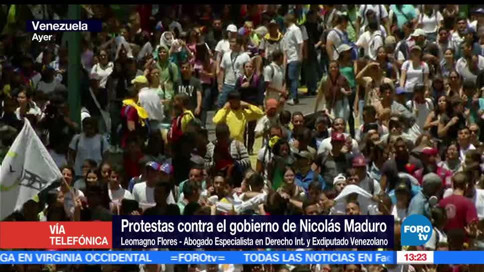 Protestas, Manifestaciones, Contra, Gobierno de Nicolás Maduro, Venezuela, Constitución