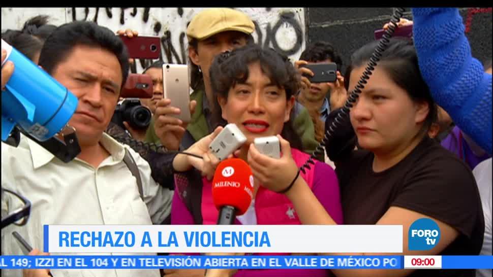 Rechazo, violencia, UNAM, Cientos se manifiestan