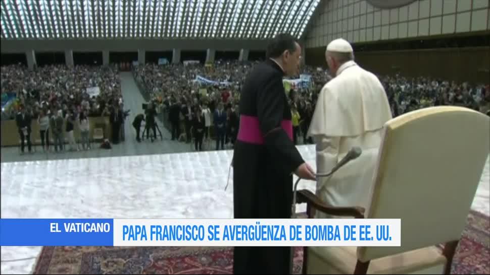 Papa Francisco, Critica, Estados Unidos, Usar, madre, bomba