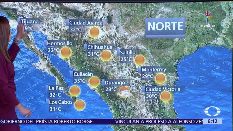 frente frío, vórtice de núcleo frío, noroeste, México
