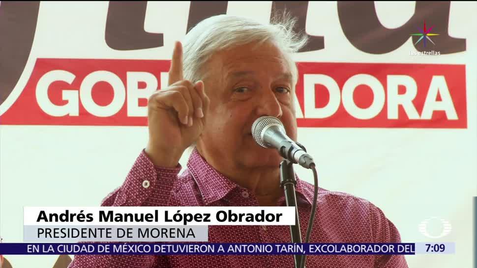 Andrés Manuel López Obrador, candidatura, Delfina Gómez, Edomex