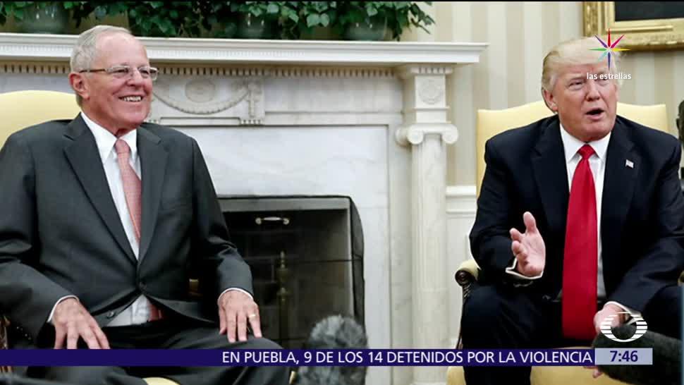 Donald Trump, presidente, Perú, Pablo Kucsynski, crisis en Venezuela