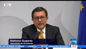 secretario de Economía, Ildefonso Guajardo, negociación, tratado de comercio
