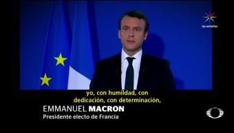 noticias, televisa news, triunfo, Macron, Francia, elecciones