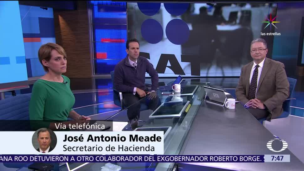 José Antonio Meade, secretario de Hacienda, impuestos, comercio, gasolineros, huachicoleros