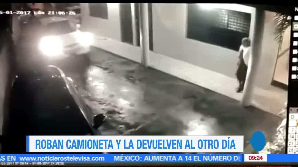 video, delincuentes, robaron una camioneta, República Dominicana