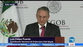 coordinador nacional de Protección Civil, Luis Felipe Puente, Anuncian, Cancún