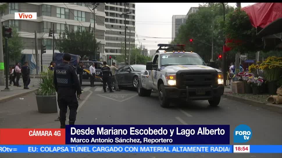 Asesinan, automovilista, Polanco, Ciudad de México