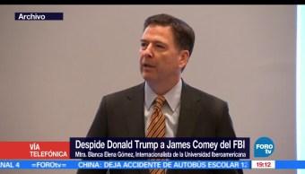 James Comey, Mtra, Blanca Elena Gómez, FBI