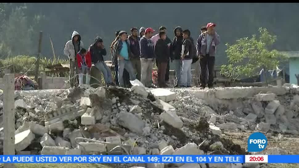 noticias, FOROtv, Explosion, polvorin, Puebla, Chilchotla