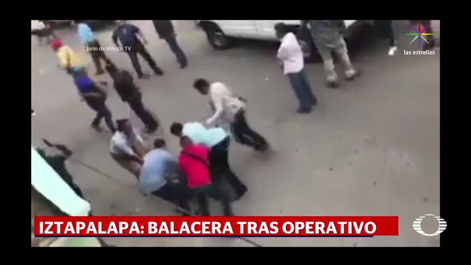 noticias, televisa news, Balacera, operativo, Iztapalapa, narcomenudistas