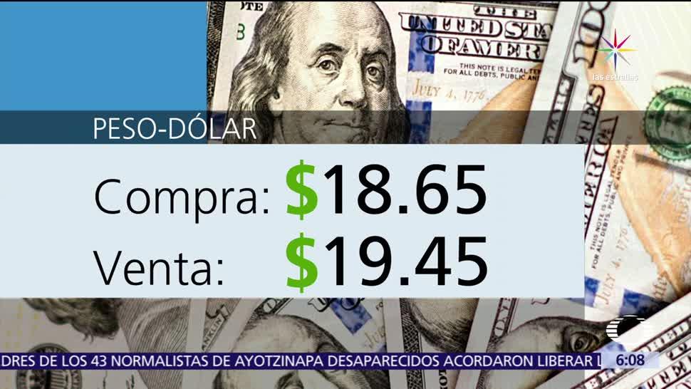 ventanillas bancarias, Ciudad de México, 19.45, venta de dólar