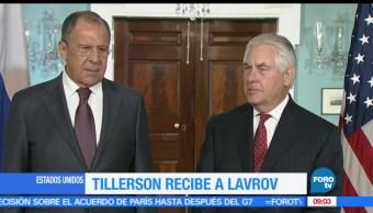 secretario de Estado, Rex Tillerson, jefe de la diplomacia, Serguei Lavrov, Rusia