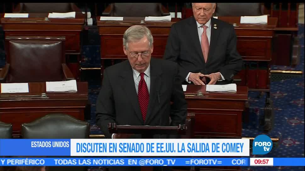 Líderes, senadores demócratas, senadores republicanos, James Comey, FBI