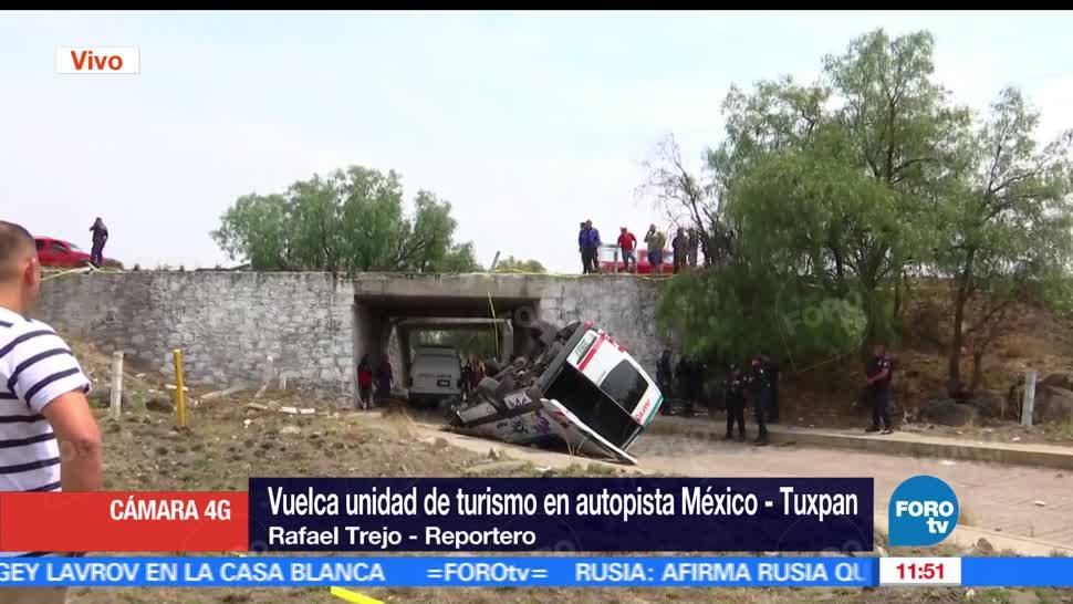 transporte público, Acolman, Estado de México, muertos, lesionados