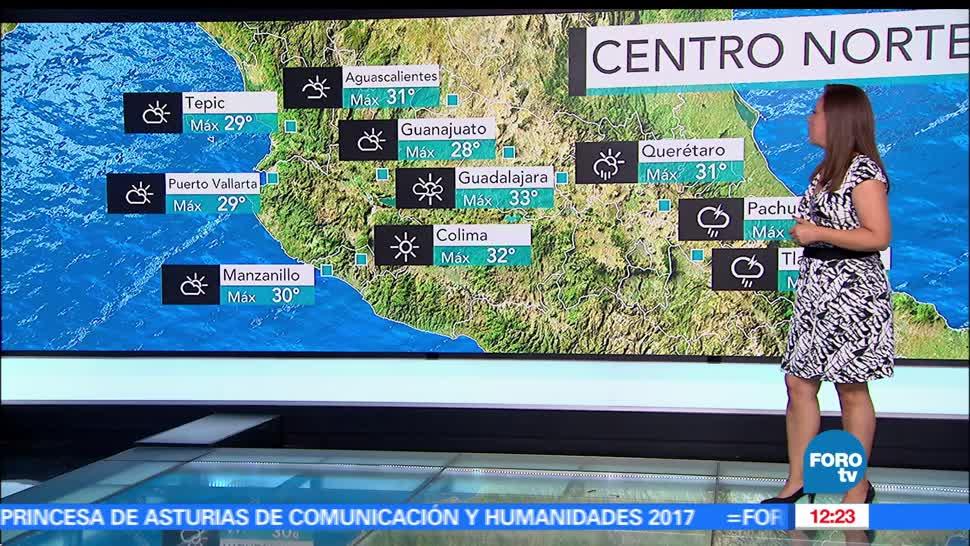 Ciudad de México, grados, temperatura máxima, lluvias