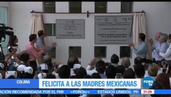 Presidente de Mexico, EPN, Celebra, Festeja, Madres, Obras hospitalarias