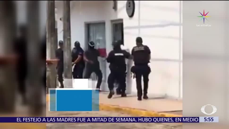 Cárdenas, asaltantes, empleados, clientes, botín
