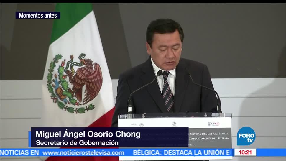 Miguel Ángel Osorio Chong, titular de Segob, justicia, CDMX