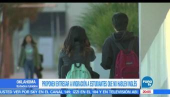 Legisladores, Oklahoma, entregar, migración, estudiantes, no hablen inglés