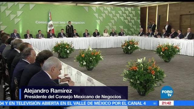 Empresarios, anuncian, EPN, seguirán, invirtiendo, México