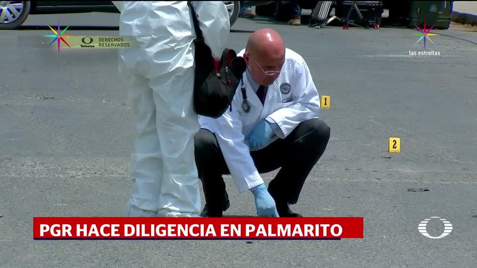 Peritos, PGR, recaban, pruebas, Enfrentamiento, Palmarito